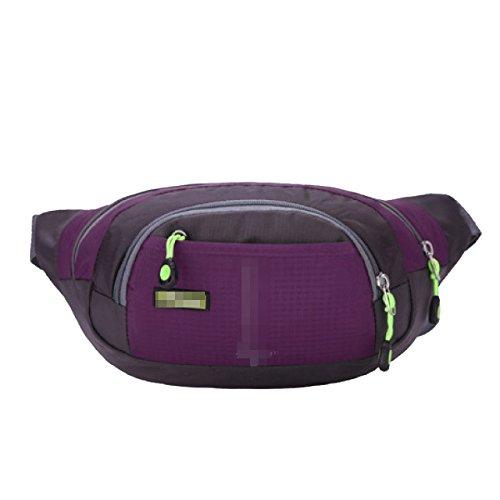 Unisex Grande Capacità Portatile Prova Dell'acqua Di Sport Marsupio Triangolo Pacchetto Multicolor Purple