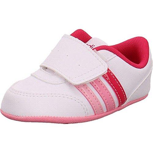 official photos 2649a e4f1b adidas Kinder-Unisex V Jog Crib Turnschuhe, Bianco (Ftwbla Rosfue Rossen