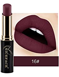 Rouge à LèVres Femme Fille Princesse 12 Couleurs Maquillage Waterproof à LèVres Mat Liquide Beauté Brillant Lip...