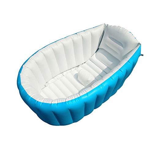 lzndeal Baby-Vasca da bagno gonfiabili in PVC Forte portatile bagno vasca da bagno per il bambino neonato bambino blu