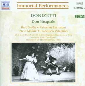 Donizetti: Don Pasquale (Gesamtaufnahme) (Aufnahme 21.12.1940)