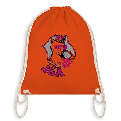 JGA Junggesellinnenabschied - JGA Katze - Turnbeutel I Gym Bag Orange