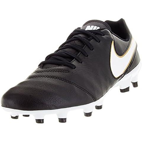 Botas Nike Tiempo Genio II Piel Negro Suela Fg