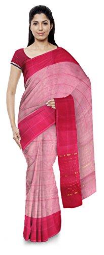 Yasin Sarees Women's Kota Doria Handloom Cotton Silk Saree With Blouse Piece (Multi-Coloured)