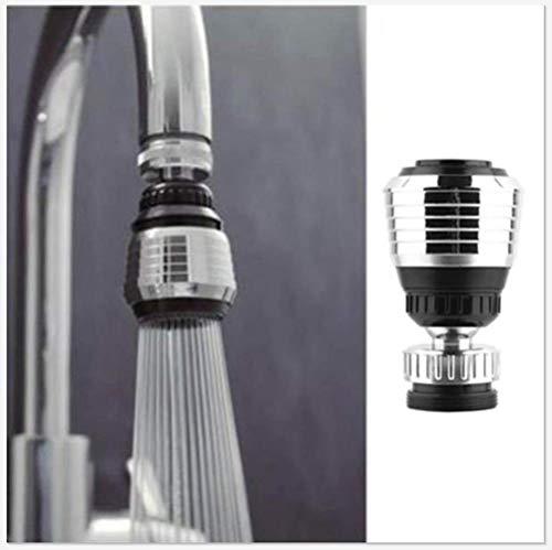 Wasserhahn Rotator- BOOMING 360 drehbar Wasserhahn Düse Torneira Wasserfilter Adapter Wasserfilter Wasserhahn Belüfter Diffusor Küchenzubehör - Geeignet für Küche, Bad und Terrasse (5PC)