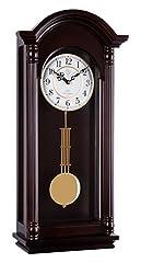 Idea Regalo - 20123 Orologio a pendolo in legno da parete con movimento al quarzo suoneria wenstminster