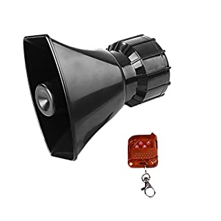 Leaftree 12V 100W Super-Ring Wireless Remote Alarm Horn, schwarz
