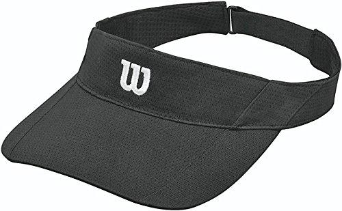 Wilson Herren Kappe Rush Knit Visor Ultralight BK, Black, OSFA, 0097512147798 (Wilson Visor)