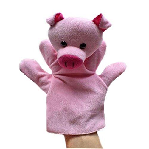 Animal cerdo de peluche de juguete para niños marionetas de mano