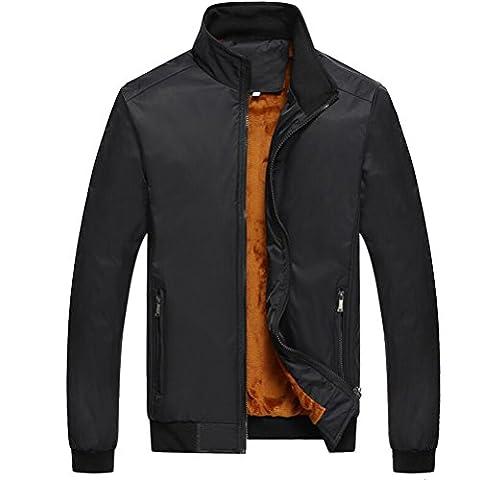 Zhuhaitf Winter Mens Stand Collar Coats Outerwear Thicken Plus Velvet Warm Jackets
