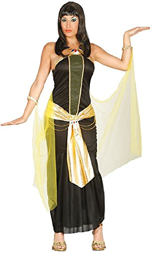 Ladies Dark Egyptian Queen Cleopatra Pharaoh Hen Do Night Fancy Dress Costume Outfit UK 12-18 (UK - Königin Cleopatra Adult Kostüm
