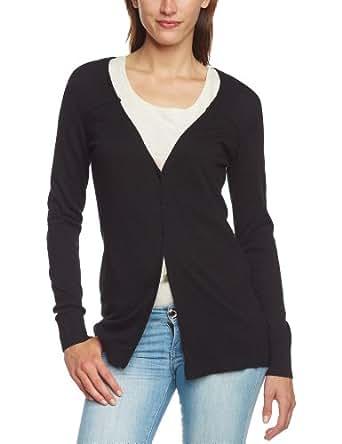 Mexx Metropolitan - Gilet - Manches Longues Femme - Noir - Noir (001) - FR : 42 (Taille Fabricant : L) (Brand size : L)