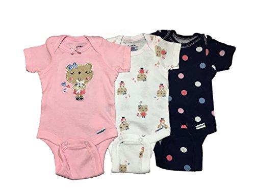Gerber Baby Girls Onesies Bodysuits 3 Pack Bear Hugs Preemie -