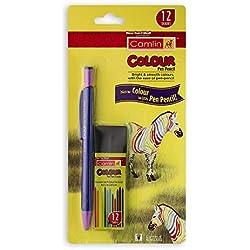 Camlin Colour Pen Pencil with Lead Tube (Multicolour)