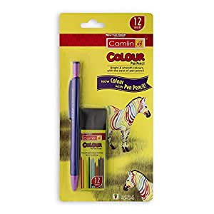 Camlin Colour Pen Pencil with Lead Tube (Multicolour)