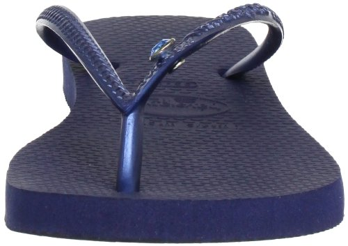 Havaianas Slim Crystal Glamour Sw, Infradito Donna Multicolore (Navy Blue/Blue 0135)