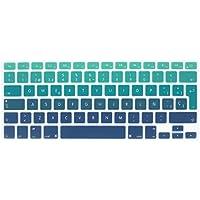 """Wayes - española Cubierta del teclado / Keyboard Cover para MacBook Pro 13"""" 15"""" 17"""" & Air 13"""" EU/ISO Disposición Silicone / Silicona Skin (Distribución del teclado de la UE / ISO) - mezclar verde y azul)"""