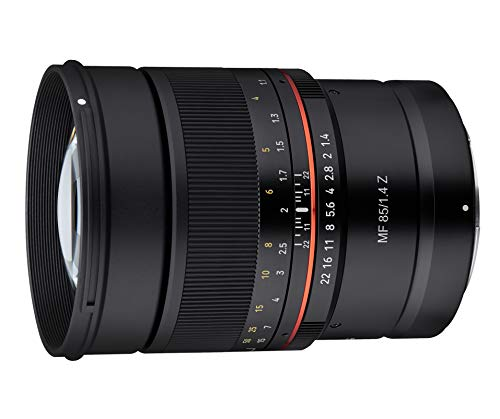 Samyang MF 85mm F1.4 Z Nikon Z - manuelles Objektiv mit 85 mm Festbrennweite für spiegellose Vollformat Nikon Z Kameras oder Nikon F Kameras mit FTZ...