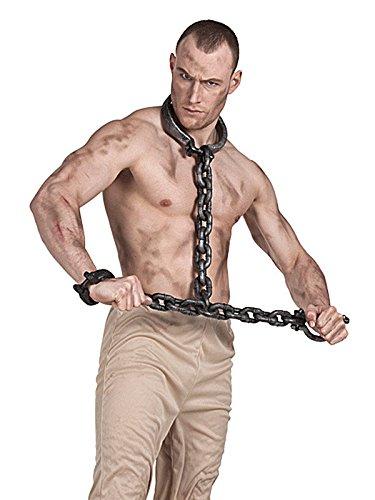 Preisvergleich Produktbild Mittelalterliche Hals und Armfessel grau 100cm