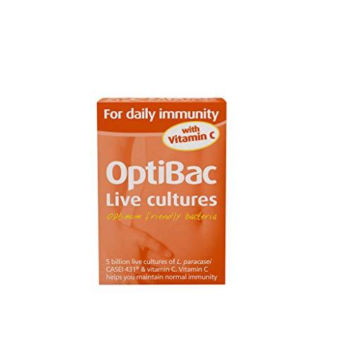 OptiBac Für die tägliche Immunität - 5 Milliarden KBE L. Casei 431 Veganer - 30 Kapseln