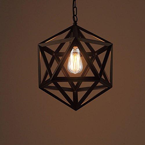 Bügeleisen hex, American style Loft, Retro industrial Wind, Edison die Glühbirne, Kronleuchter, Restaurant, Bar, Kronleuchter, 55 cm