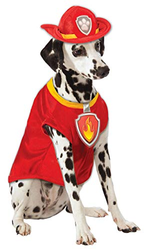 Paw Patrol Kostüm Dog - Rubie's Paw Patrol Marshall The Fire Dog Pet Fancy Dress Costume Small