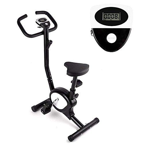 Bicicleta Estáticas, AGM F de Fitness Bike,Bicicleta de entrenamiento Bicicleta Plegable Magnética con Resistencia Ajustable, Consumo de calorías, Distancia, Tiempo de Entrenamiento, Velocidad, Max del Usuario Hasta 100 kg
