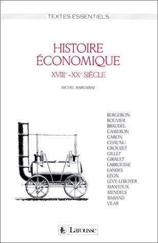 Histoire économique : XVIIIe-XXe siècle