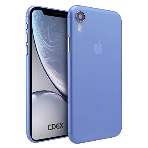 doupi UltraSlim Hülle für iPhone Xr (iPhone 10r) 6,1 Zoll, Ultra Dünn Fein Matte Oberfläche Design Handyhülle, blau