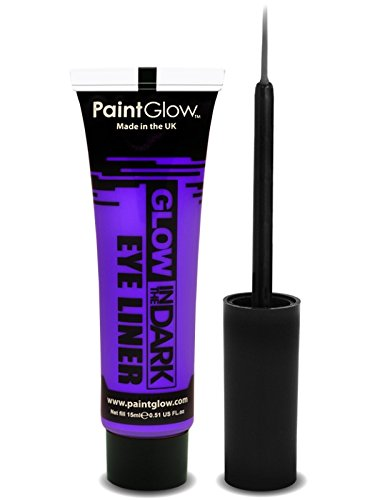 PaintGlow Neon Glow in the Dark Eyeliner with Applicator Violet 15ml
