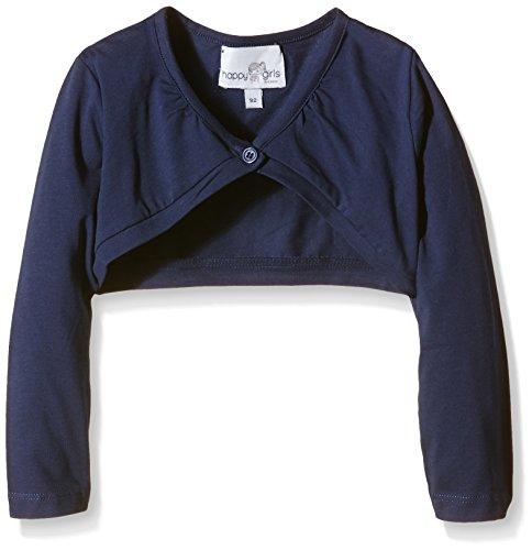 Happy Girls Mädchen Jersey Bolero mit Raffung am Halsausschnitt Einfarbig, Blau (navy 62), Gr. 98 (Herstellergröße: 2 Jahre) - Jersey Girl Kinder Sweatshirt