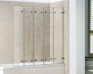 5 Panel Semi Frameless Folding Bath Screen