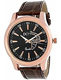 DCH In-14 Black Dial With Golden Bezel Color Analogue Wrist Watch For Men And Boys