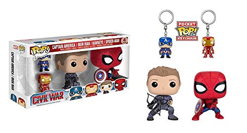 Funko - Figurine Marvel Civil War - Avengers Pack de 4 Pop 10cm - 0849803076047
