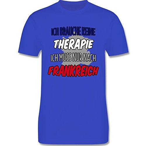 Länder - Ich brauche keine Therapie ich muss nur nach Frankreich - Herren Premium T-Shirt Royalblau