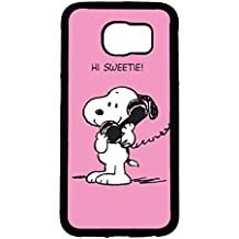 Unique Design Snoopy Phone caso Cover for Funda Samsung Galaxy S6 Snoopy Cartoon Design