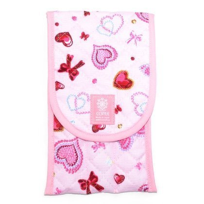 It is light and ribbon HAPPY cutlery case heart glitter Beauty (pink) made in Japan N4615800 (japan import)