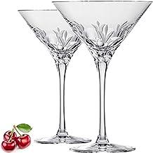 Eisch Cocktailgläser exklusiv hochwertig - Gentleman Sensis Plus Cocktailglas M2 - 2 STÜCK 240 ml - Handgeschliffenes Premium Kristall-Glas Made in Germany. Dünnwandig und bruchfest.
