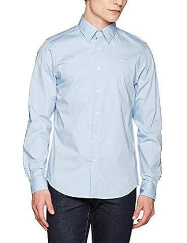 G-STAR RAW Herren Freizeithemd Core Shirt L/S Blau (Lt Wave 599), Medium (Comfort Wave)