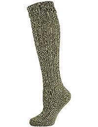 Mysocks® Calcetines altos de lana de rodilla lisos