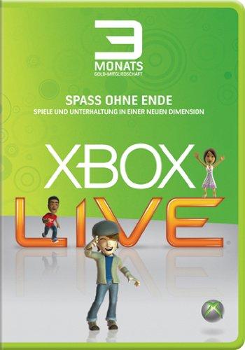 Xbox 360 - Live Gold 3 Monate (Xbox Live Gold Für Xbox 360)