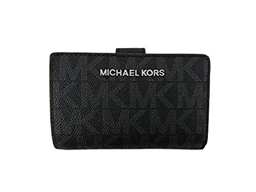 Michael Kors Damen Geldbörse, braun mit MK Logo 3x8x13 cm, Echtes Leder, JET SET TRAVEL