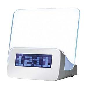 Moonar réveil matin LED lumineux message Conseil Horloge numérique Avec Calendrier