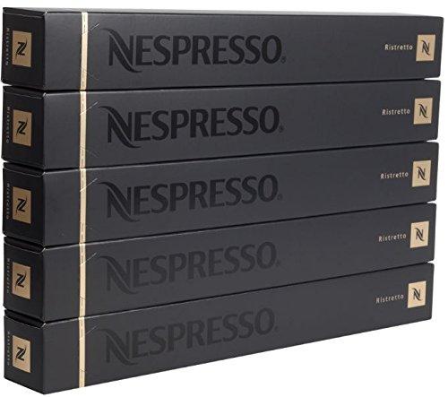Find New original Nespresso Ristretto flavour coffee 50 Capsules Pods 5 Sleeves Long expiry - Nespresso