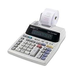 Sharp EL-1801V Portable 12-Digit 2-Color Serial Printing Calculator