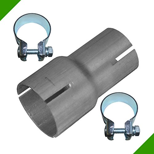 Tubo reductor 40mm a 50mm Adaptador de escape banda acero abrazaderas
