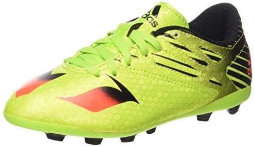 adidas Jungen Messi 15.4 Fg J Fußballschuhe Grün (Semi Solar Slime/Solar Red/Core Black)