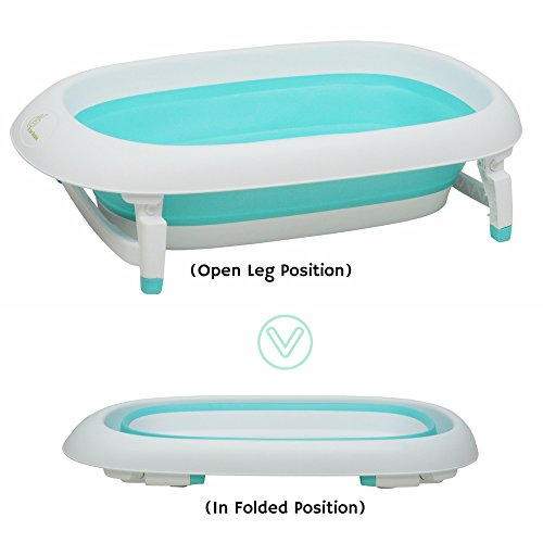 R for Rabbit Bubble Double Elite - The Folding Baby Bath Tub for Kids (Green)