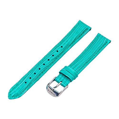 Timex Weekender Damen t7b949–16mm Türkis Lizard Grain Leder Ersatz Uhrenarmband