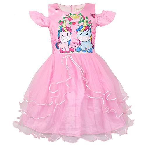 QYS Mein kleines Pony Kostüm Mädchen Cartoon Childs Kinderkostüm Outfi,Pink,140cm